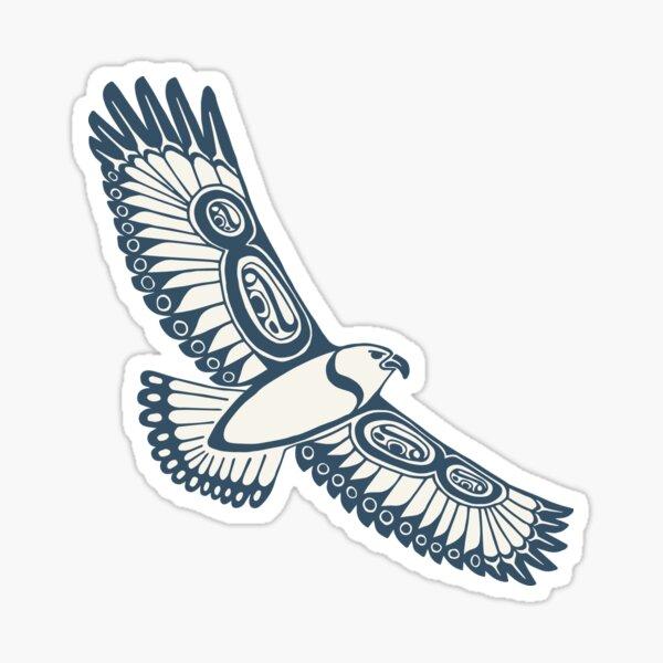 The Hawk's Flight_ Light cerulean Sticker