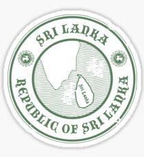 Sri Lanka Travel Destination Stamp Sticker