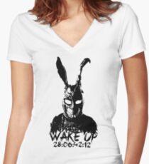 Wake Up Women's Fitted V-Neck T-Shirt