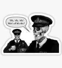 Skeleton Police (Blue) Sticker