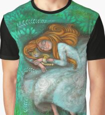 Sleeping with cat Graphic T-Shirt
