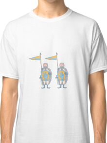 Knights in armour with shield and sword. Classic T-Shirt