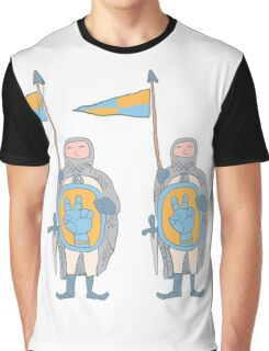 Knights in armour with shield and sword. Graphic T-Shirt