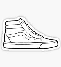 Vans Sk8 Hi White Shoe Sticker