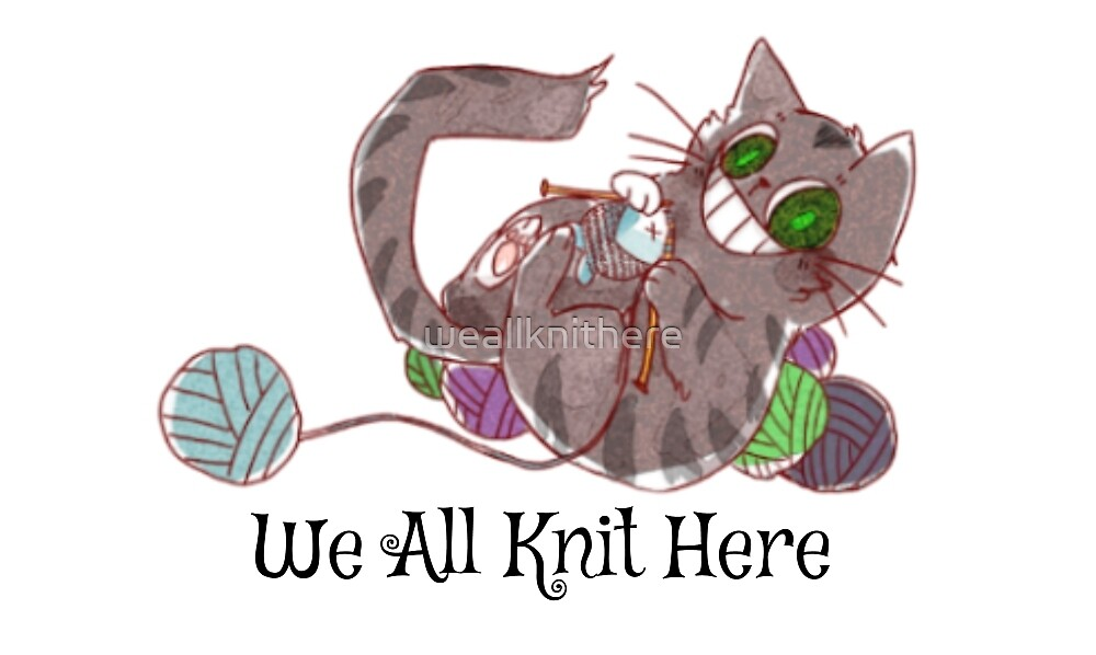 We All Knit Here Logo by weallknithere