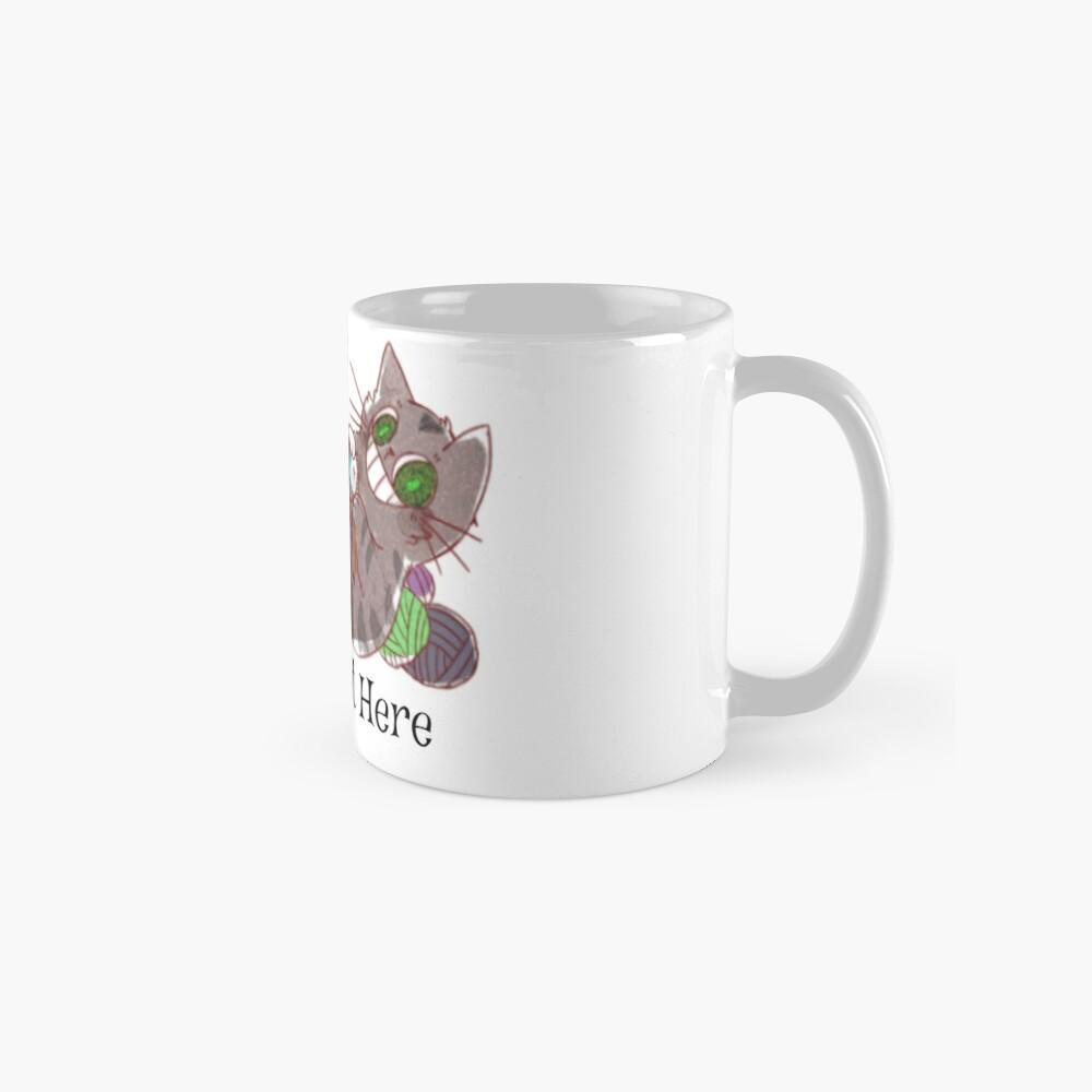 We All Knit Here Logo Classic Mug