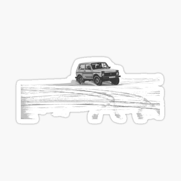 Lada Niva Treiben Sticker