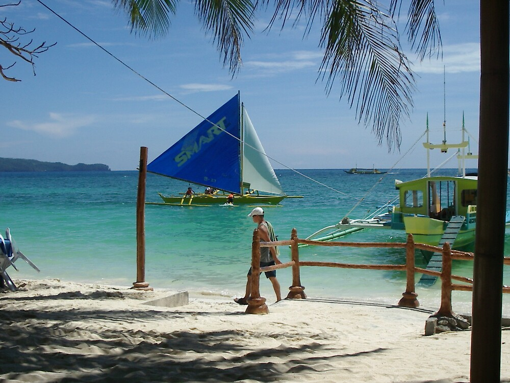 Boats at Boracay - 1 by StephenH