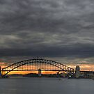 Sydney Harbour Summer Storm and Sunset by Stephen Kilburn
