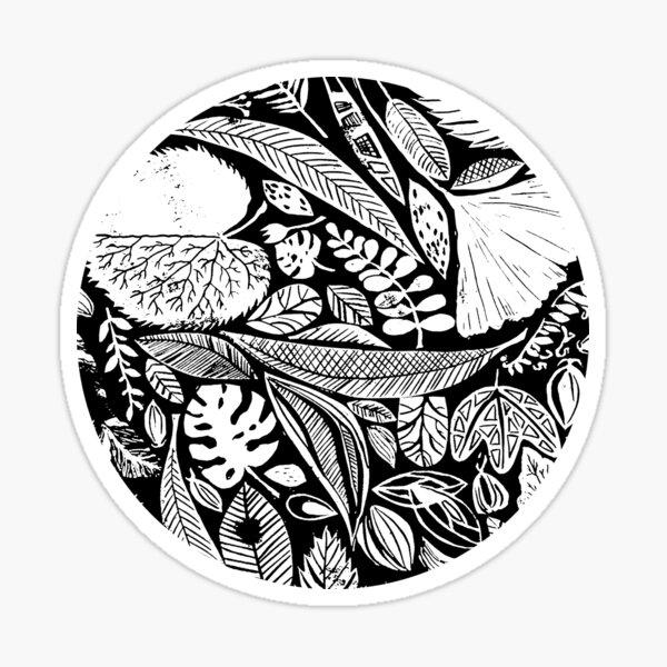 Nature in black Sticker