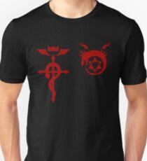 Camiseta unisex Fullmetal Alchemist Ouroboros + Flamel Red