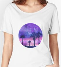 Mystic Tropical Beach Scenery Women's Relaxed Fit T-Shirt
