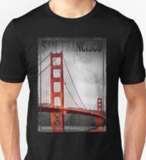 Vintage Style San Fransico Golden Gate Bridge Unisex T-Shirt