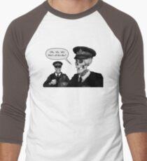 Skeleton Police (Green) Men's Baseball ¾ T-Shirt