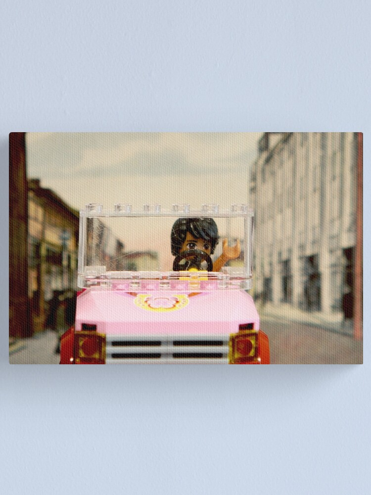Alternate view of Legoman arrives to town streetscape Canvas Print