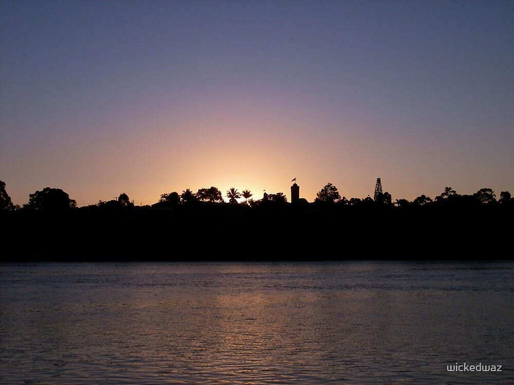 Castle Sunset by wickedwaz
