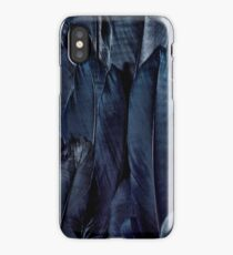 Black Feather Close Up  iPhone Case