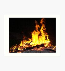 Stock for Firey Visions Art Print