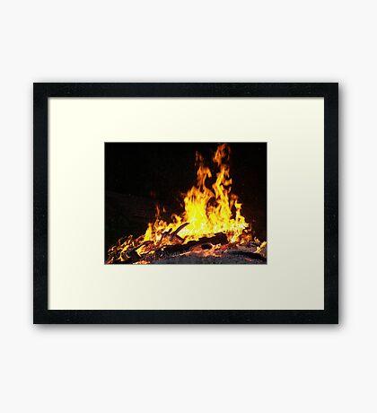 Stock for Firey Visions Framed Print