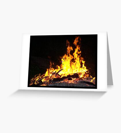 Firey Visions Greeting Card