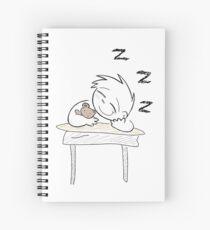 Little Student Sleepyhead  Spiral Notebook
