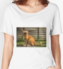 Adorable cat yawning Women's Relaxed Fit T-Shirt