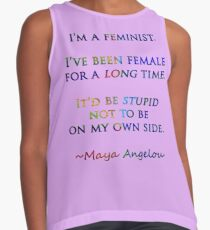 Feminist by Maya Angelou Contrast Tank