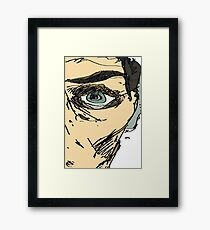 i see you with my eye Framed Print