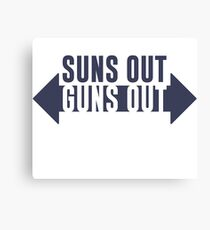 Suns Out Guns Out Fitness Canvas Print
