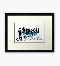 Women Lead Framed Print