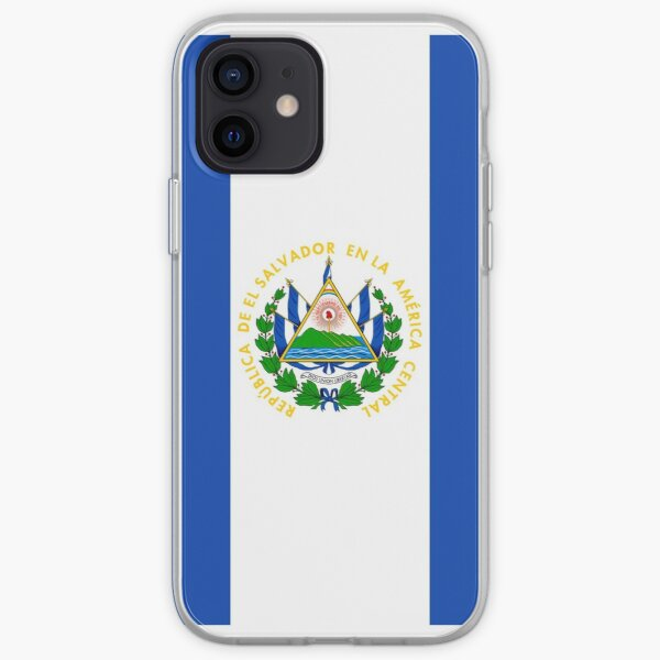 Caja del teléfono de la bandera de El Salvador Funda blanda para iPhone