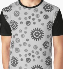 pattern with gears, Industrial style. Graphic T-Shirt