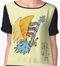 Deal With It Illustration Chiffon Top