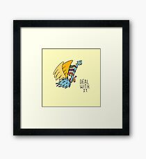 Deal With It Illustration Framed Print