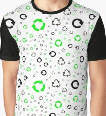 pattern with recycle symbols. Graphic T-Shirt