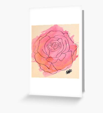 Rose Watercolor Greeting Card