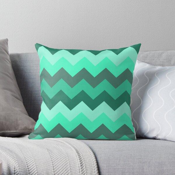 Pastel Green, Aquamarine & Turquoise Throw Pillow