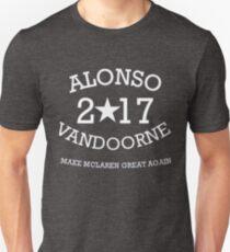 Alonso Vandoorne 2017 Unisex T-Shirt