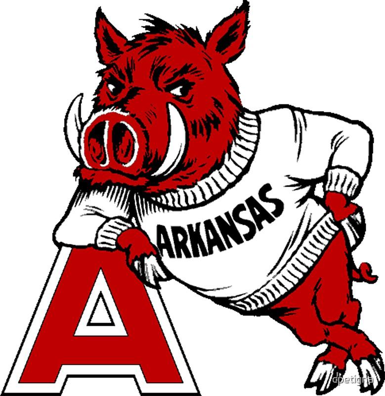 """Vintage Arkansas Razorback"" Stickers by cpetigna Redbubble"