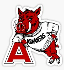 Vintage Arkansas Razorback Sticker