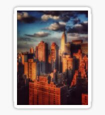 Empire State Building in Golden Sun - New York City, USA Sticker
