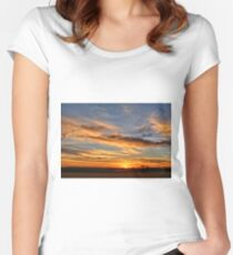 Spwinter Sunset Women's Fitted Scoop T-Shirt