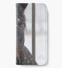 Horse in Snowstorm iPhone Wallet/Case/Skin