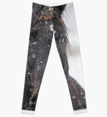 Horse in Snowstorm Leggings