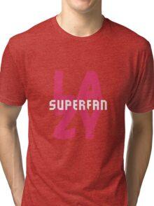 Lazy Superfan Podcast Logo Tri-blend T-Shirt