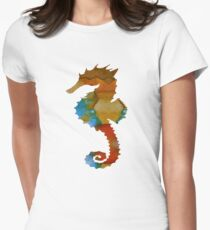 Seahorse Art Womens Fitted T-Shirt