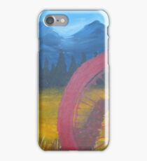 Red Wheel Mountain Bike  Trail iPhone Case/Skin