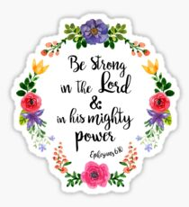 Ephesians 6:10 Sticker