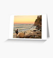 Rush Hour Moffat Beach Greeting Card