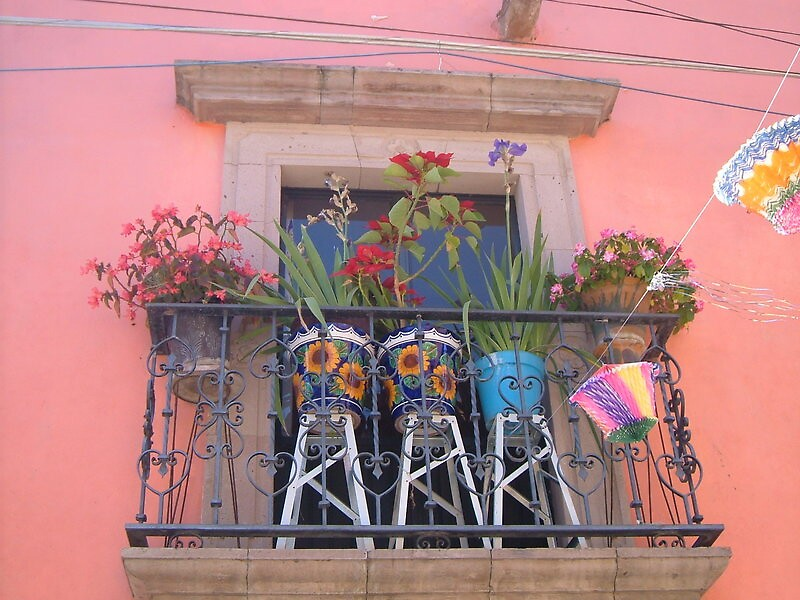 Mexican Balcony by lucio della ratta